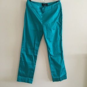 NWOT Piazza Sempione turquoise cropped pants